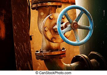 corrosión, metal, válvula