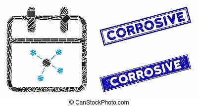 corrosif, filigranes, jour, rectangle, gratté, plan,...