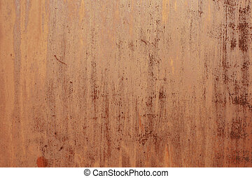 corrosion on metal orange background