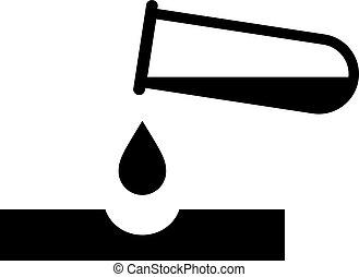 Corrosive danger chemicals vector pictogram on white background