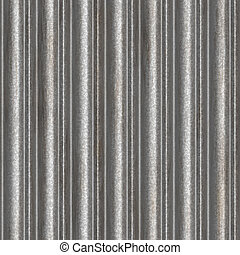 Ribbed aluminum panel texture as background Images and Stock Photos
