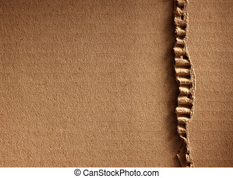Corrugated cardboard as a background
