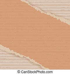 Corrugated cardboard background. Ripped carton wallpaper....
