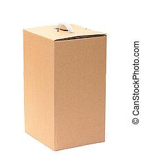 Corrugated Cardboard Box with Handle