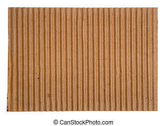 Corrugated Cardboard - Close-up of blank corrugated...