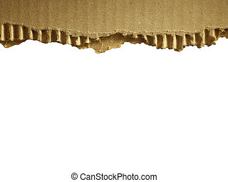 Corrugated cardboard isolated on white as a background