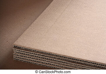 corrugated cardboard sheets with room for text