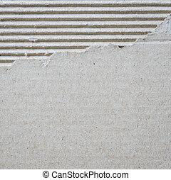 Corrugated cardboard texture - Torn corrugated cardboard...