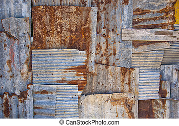 corrugated iron background - An abstract background image of...