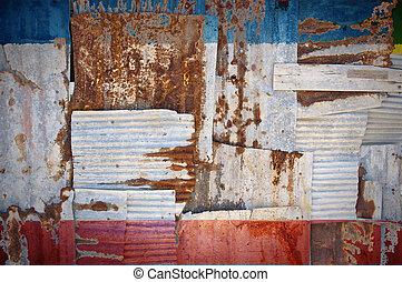 Corrugated Iron Crimea Flag