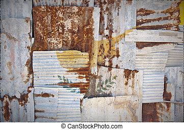 Corrugated Iron Cyprus Flag