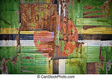 Corrugated Iron Dominica Flag