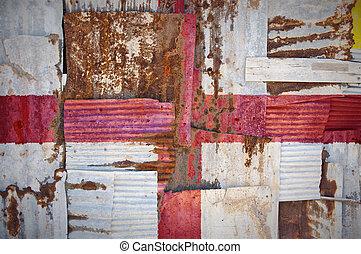 Corrugated Iron England Flag