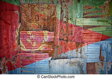 Corrugated Iron Eritrea Flag