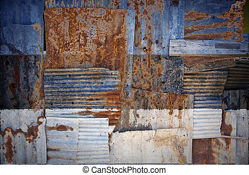 Corrugated Iron Estonia Flag