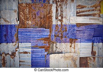 Corrugated Iron Finland Flag