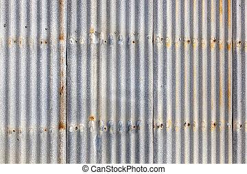 Corrugated Iron Siding - Rusted, galvanized, corrugated iron...