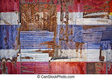 Corrugated Iron Thailand Flag
