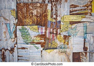 Corrugated Iron Virgin Islands Flag