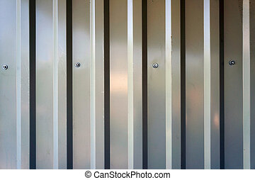 Corrugated metal sheet.