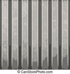 Corrugated Metal Vector - Corrugated metal with vertical...
