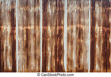 Corrugated metal wall - Rusty corrugated metal wall