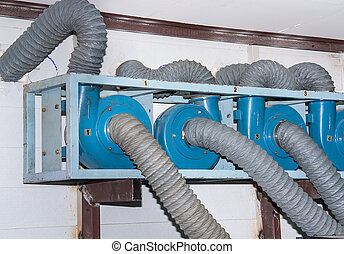 Corrugated pipe. - Corrugated pipe for ventilation in the ...