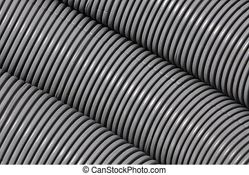 Corrugated pipe - Grey corrugated pipe