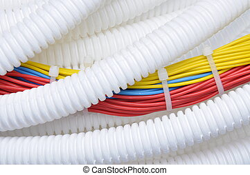 Corrugated pipe with cables - Corrugated pipe with ...