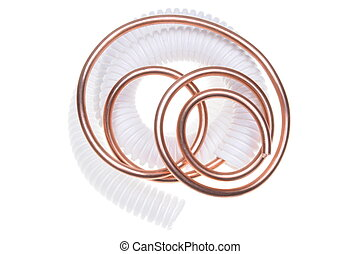 Corrugated pipe with wire - Corrugated pipe with copper wire