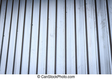 Corrugated silver metal sheet background