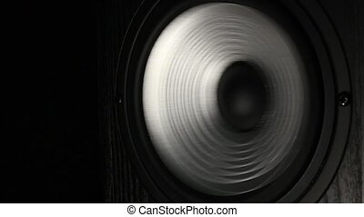 Corrugated silvwe speaker playing bass