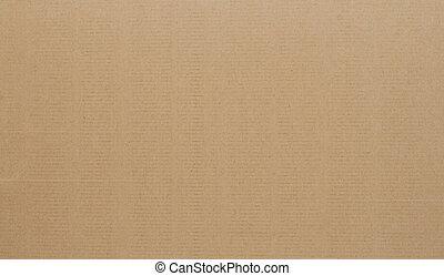 corrugato, fondo., cartone