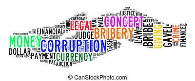 corrupción, texto, nube