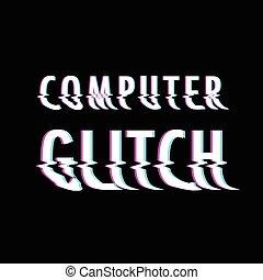 Corrupt glitch text