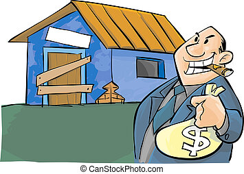Corruption - A corrupt politic and a poor house