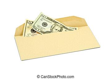 corruption concept - corruption concept. Dollar banknotes in...
