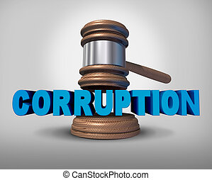 Corruption Concept - Corruption concept as a justice judge...