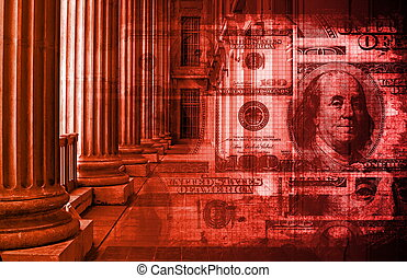 Corruption in the Legal System Abstract Concept