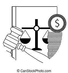 Corruption law judicial, verdict collaboration for money...