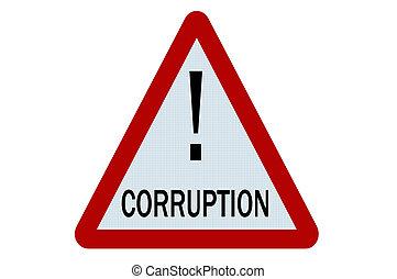 Corruption sign illustration on white background