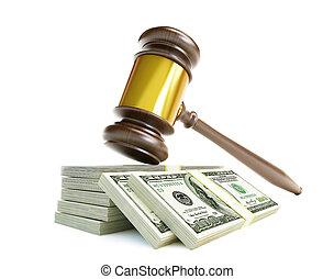 corrupto, martillo, tribunal