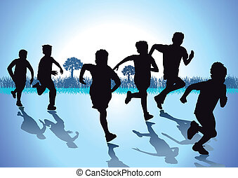 corsa, bambini