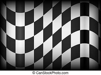 corsa, fondo, -, bandiera