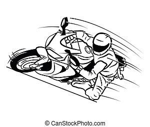 corsa, moto