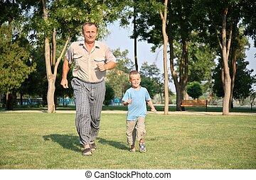 corsa, nipote, nonno