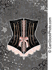 corset  - Corset with ribbon and lace