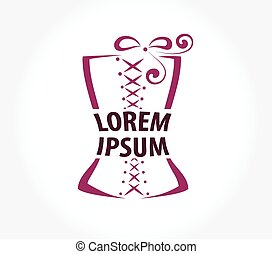 corset logo design template. - corset lines vector logo...