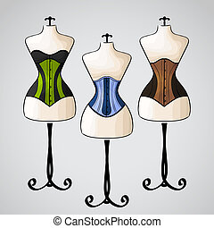 Corset on female mannequin