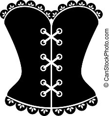 Corset silhouette on a white background. EPS 10, AI, JPEG